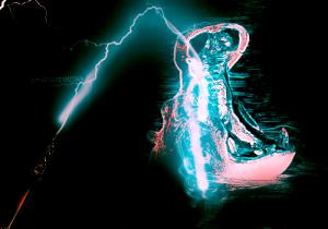 electrifying hippo